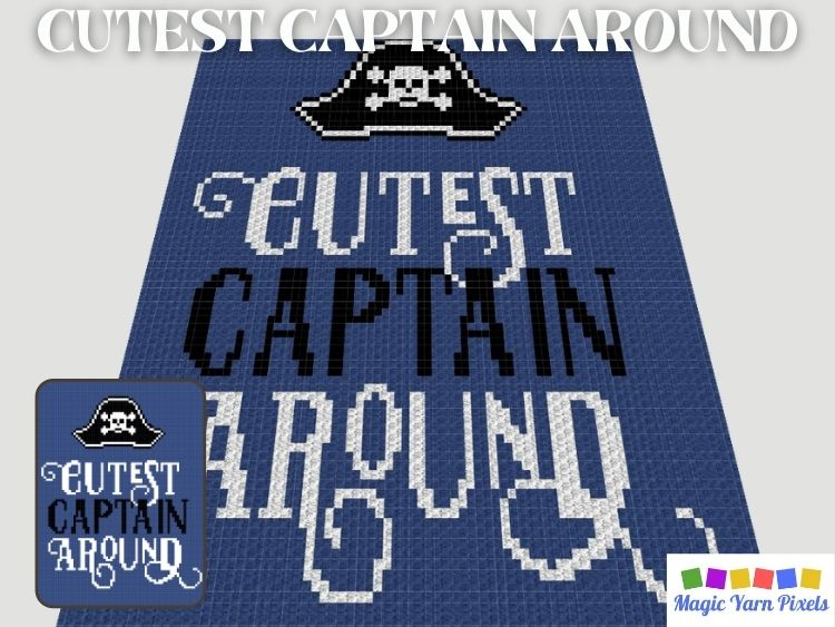 BLOG PREVIEW POSTER - Cutest Captain Around by Magic Yarn Pixels