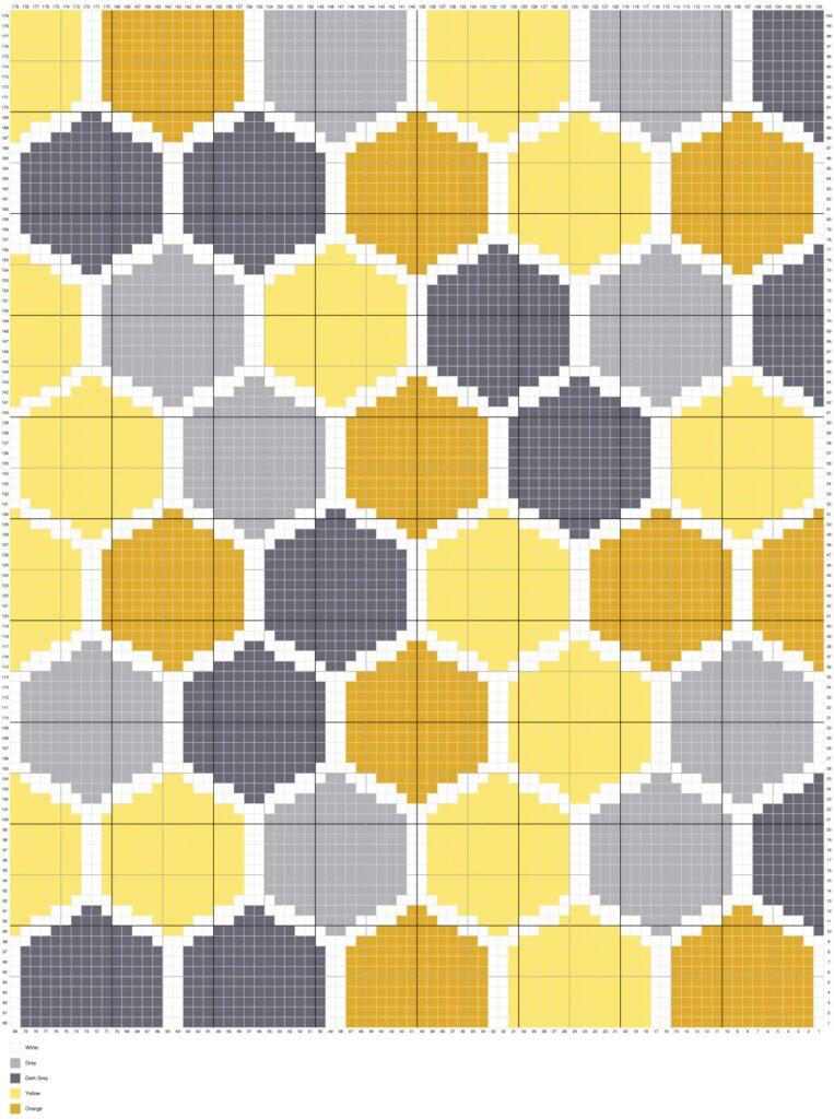 Bee Honeycomb by Magic Yarn Pixels