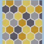 MAIN BLOG PIN - Bee Honeycomb Pattern & Free Graph by Magic Yarn Pixels
