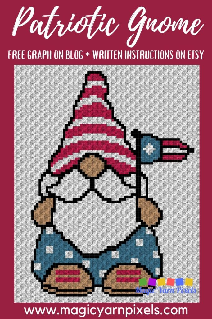 MAIN BLOG PIN - Patriotic Gnome 4th Of July _ Magic Yarn Pixels