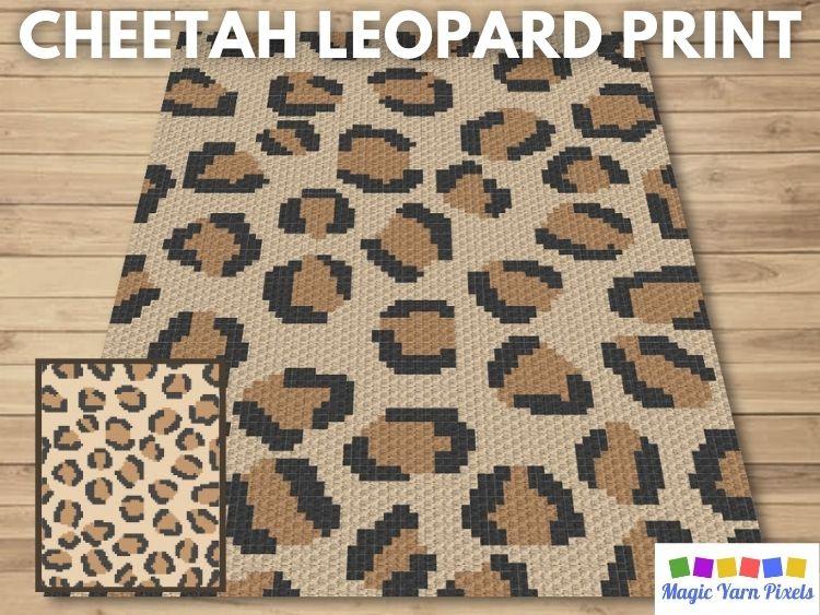 BLOG PREVIEW POSTER - Cheetah Leopard Print | Magic Yarn Pixels