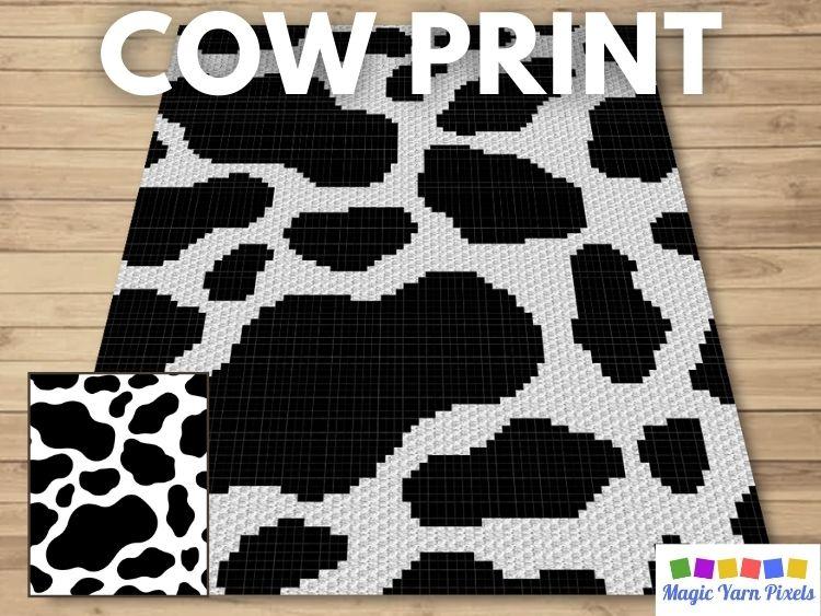 BLOG PREVIEW POSTER - Cow Print | Magic Yarn Pixels