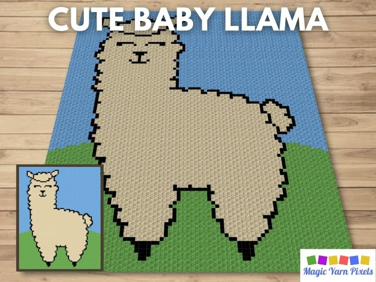BLOG PREVIEW POSTER - Cute Baby Llama