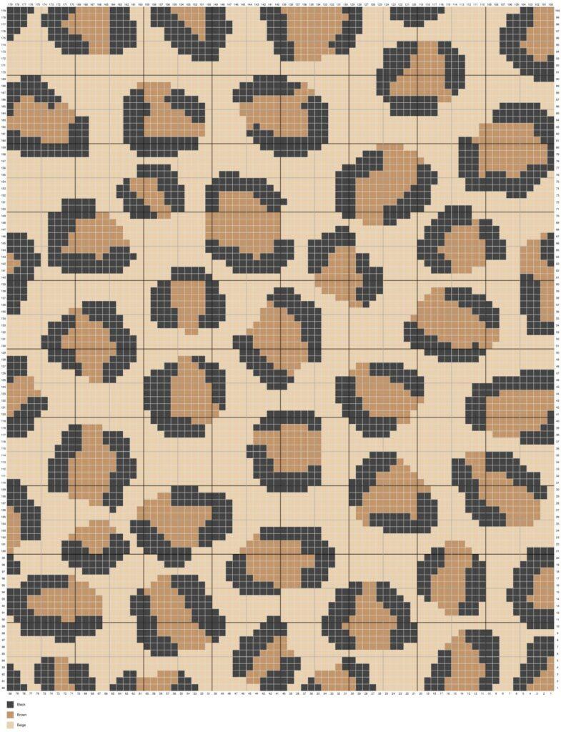 Cheetah Leopard Print by Magic Yarn Pixels