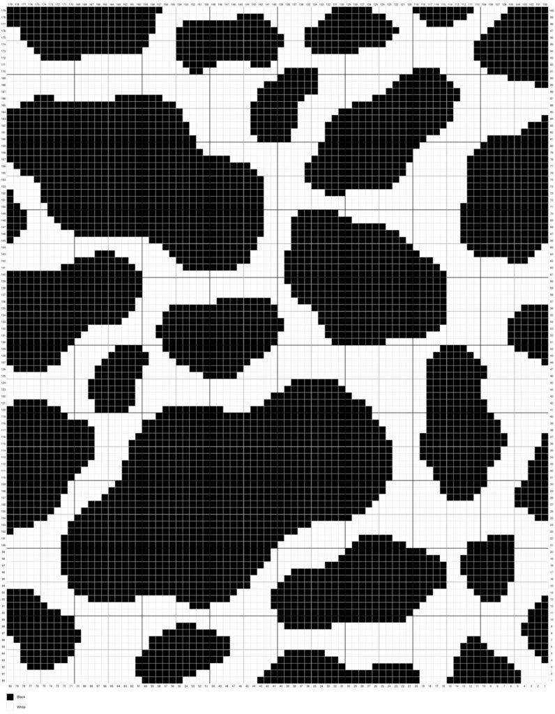 Cow Print by Magic Yarn Pixels