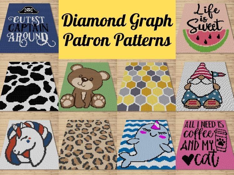 Diamond Graph Patron Patterns - May