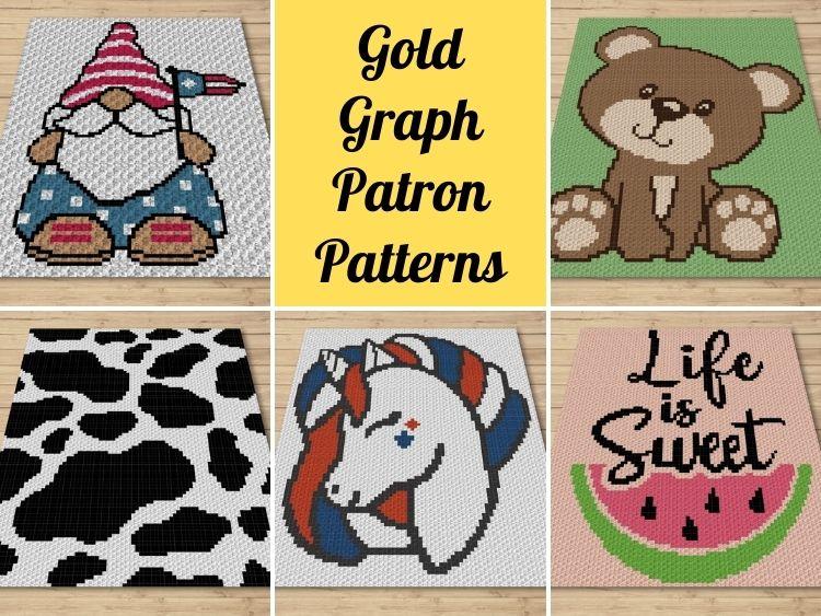Gold Graph Patron Patterns - May