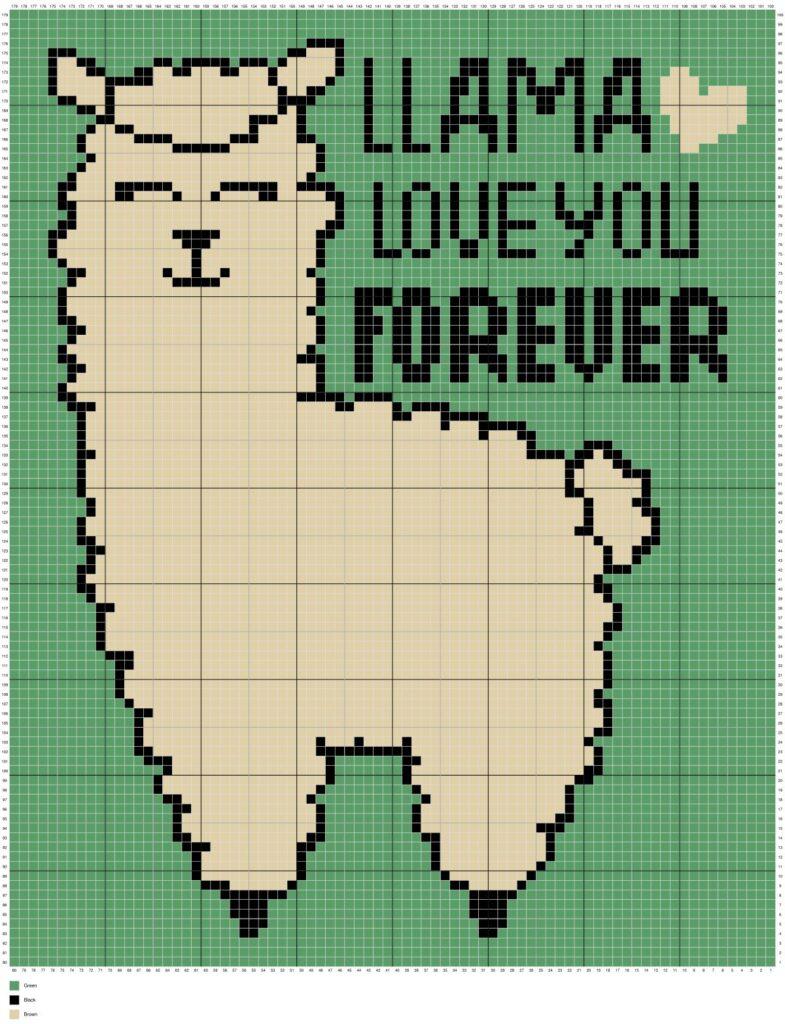 Llama Love You Forever by Magic Yarn Pixels