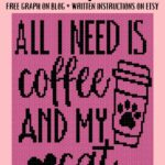 MAIN BLOG PIN - All I Need Is Coffee and My Cat   Magic Yarn Pixels