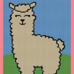 MAIN BLOG PIN - Cute Baby Llama Free Graph Pattern | Magic Yarn Pixels