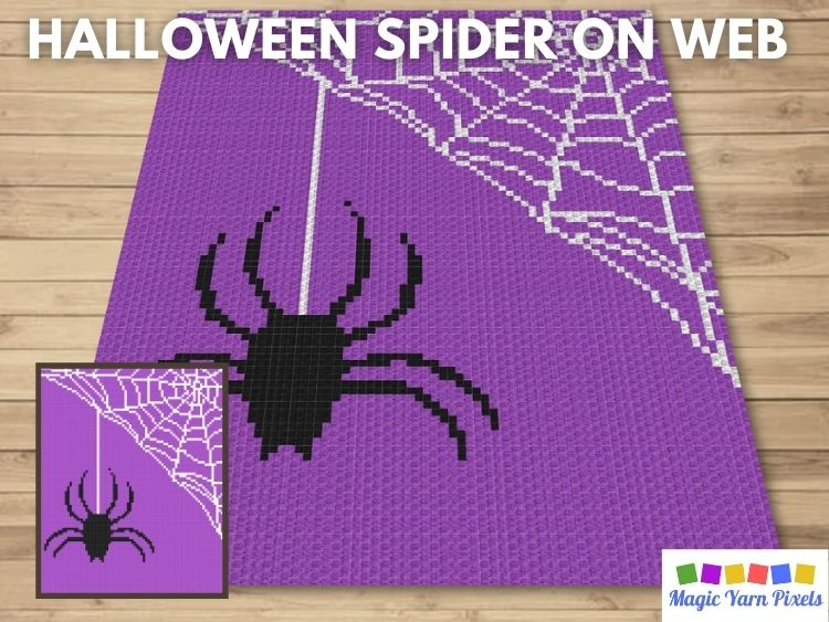 BLOG PREVIEW POSTER - Halloween Spider On Web