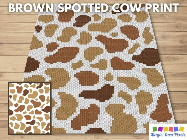BLOG PREVIEW POSTER - Brown Spotted Cow Print