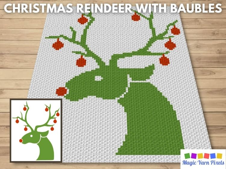 BLOG PREVIEW POSTER - Christmas Reindeer With Baubles