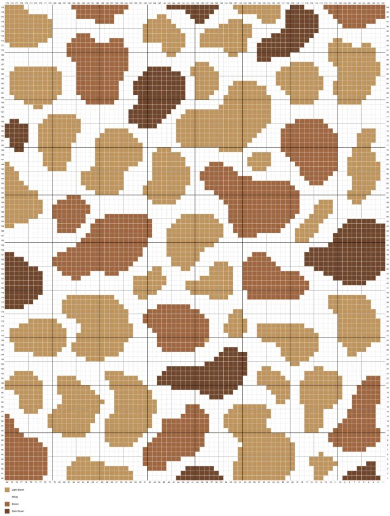 Brown Spotted Cow Print By Magic Yarn Pixels