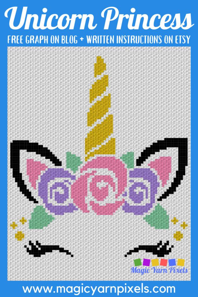 MAIN BLOG PIN - Unicorn Princess Magic Yarn Pixels