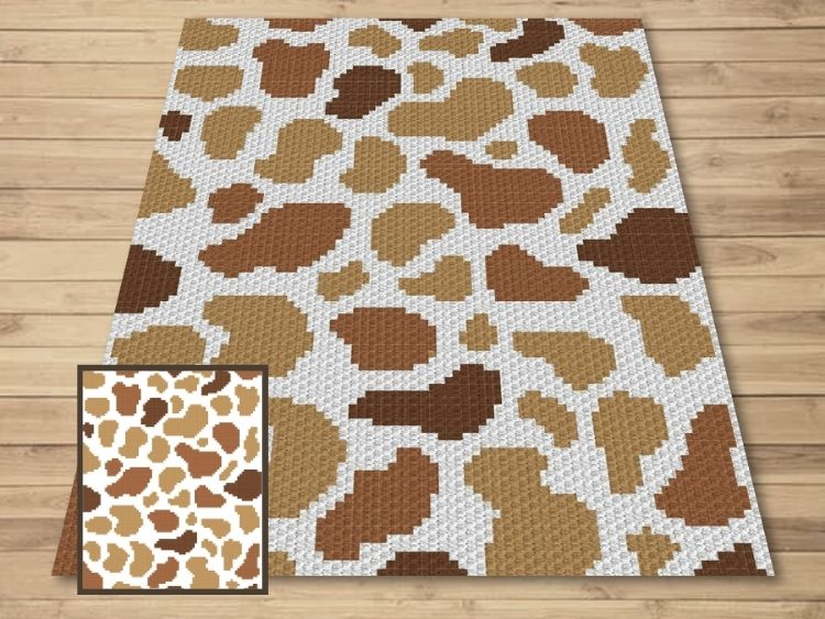 SHOP PHOTO 1 - Brown Spotted Cow Print