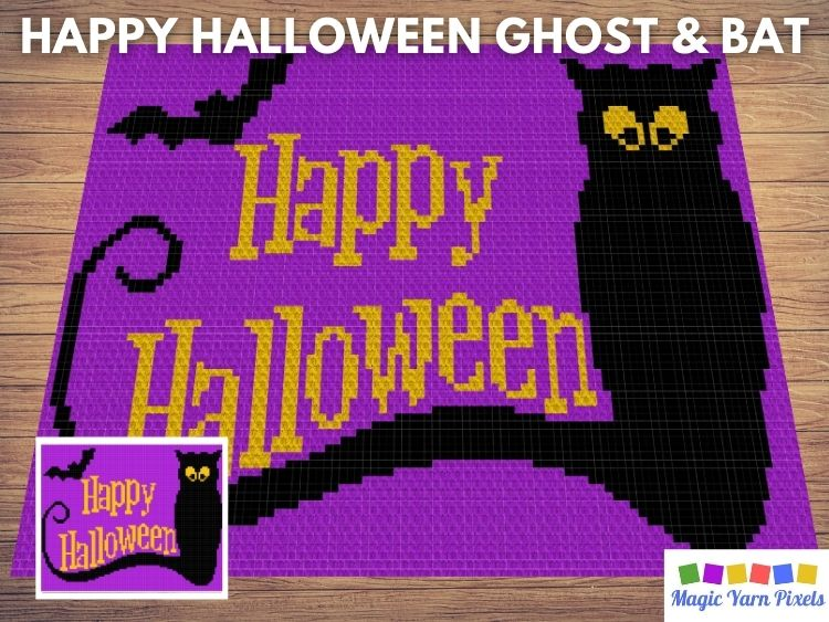 BLOG PREVIEW POSTER - Happy Halloween Ghost & Bat