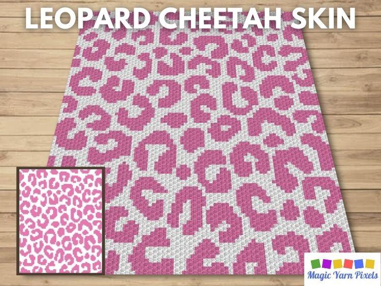 BLOG PREVIEW POSTER - Leopard Cheetah Skin Magic Yarn Pixels