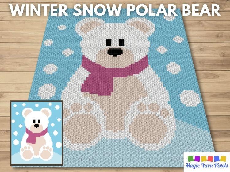 BLOG PREVIEW POSTER - Winter Snow Polar Bear