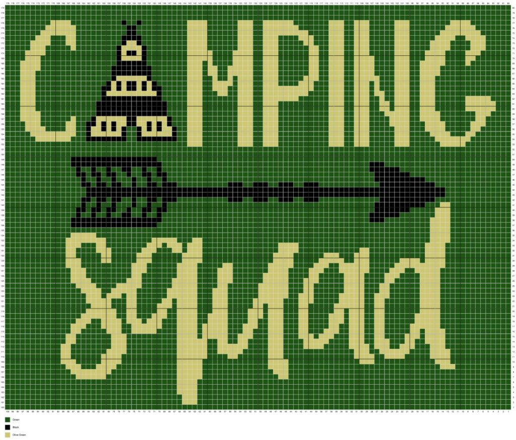 Camping Squad By Magic Yarn Pixels
