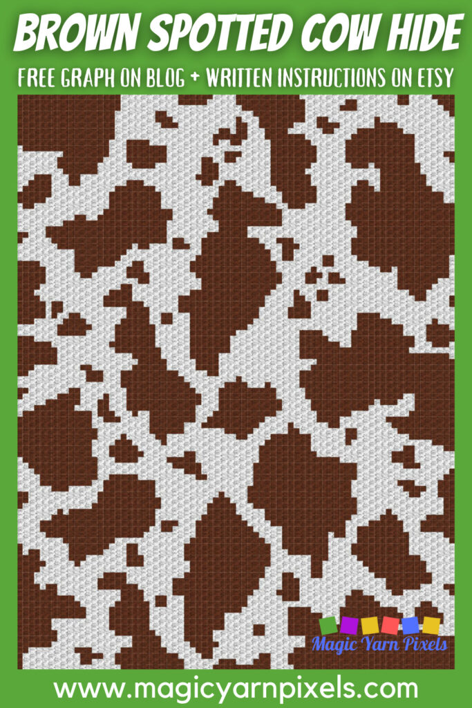 MAIN BLOG PIN - Brown Spotted Cow Hide | Magic Yarn Pixels