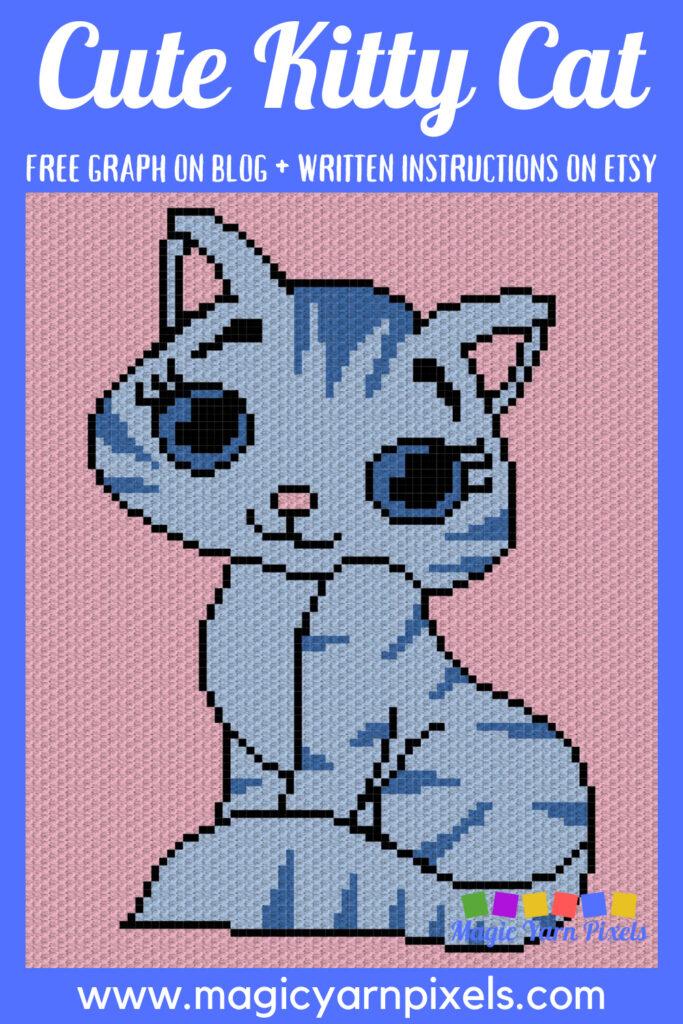 MAIN BLOG PIN - Cute Kitty Cat   Magic Yarn Pixels