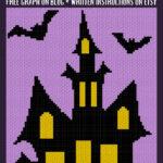 MAIN BLOG PIN - Halloween Haunted Mansion   Magic Yarn Pixels