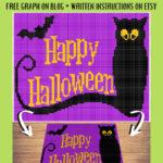 MAIN BLOG PIN - Happy Halloween Ghost & Bat   Magic Yarn Pixels