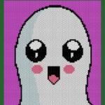 MAIN BLOG PIN - Happy Halloween Ghost   Magic Yarn Pixels