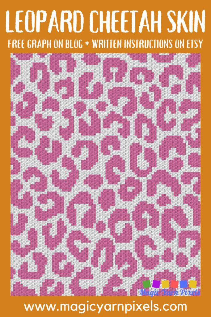 MAIN BLOG PIN - Leopard Cheetah Skin | Magic Yarn Pixels