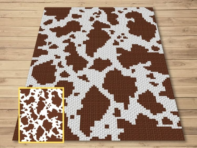 SHOP PHOTO 1 - Brown Spotted Cow Hide