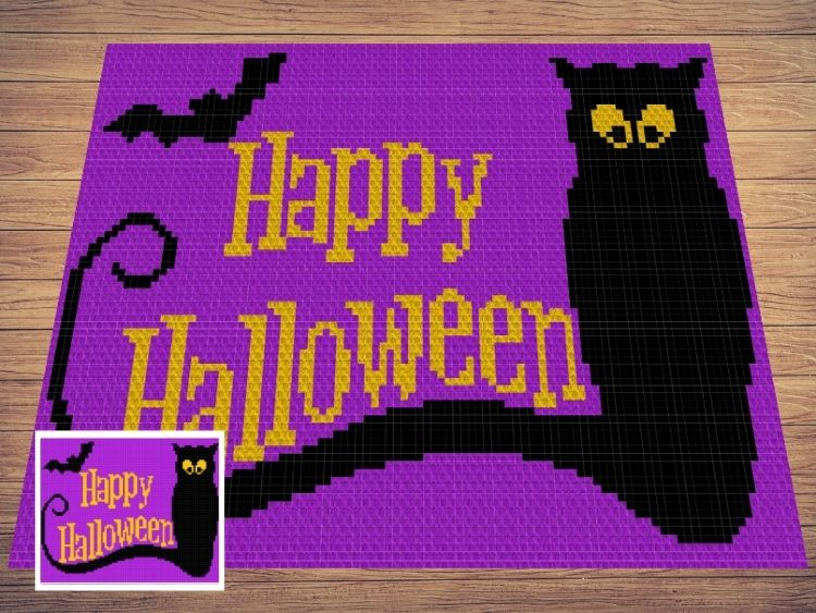 SHOP PHOTO 1 - WITH Frame - Happy Halloween Ghost & Bat
