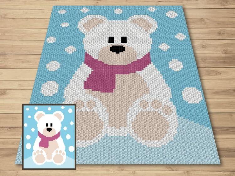 SHOP PHOTO 1 - Winter Snow Polar Bear