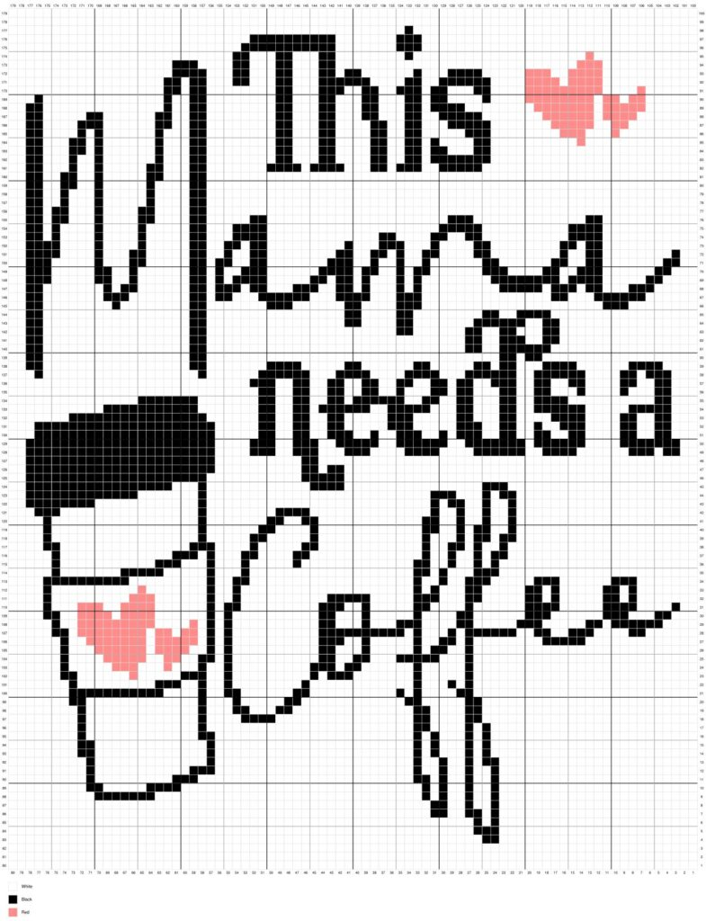 This Mama Needs Coffee By Magic Yarn Pixels