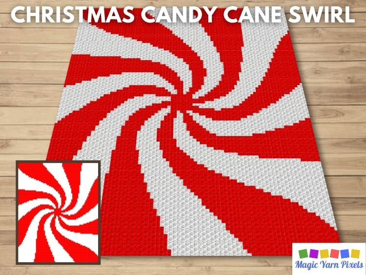 BLOG PREVIEW POSTER - Christmas Candy Cane Swirl