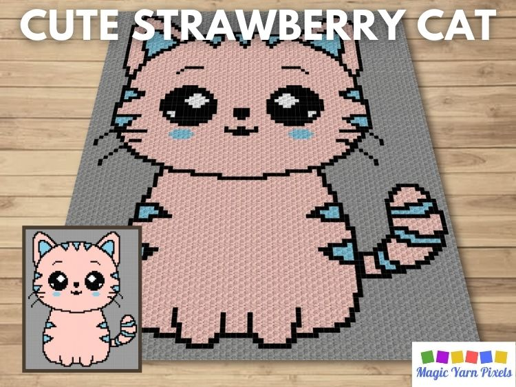 BLOG PREVIEW POSTER - Cute Strawberry Cat