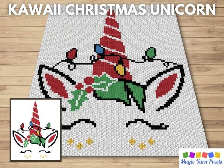 BLOG PREVIEW POSTER - Kawaii Christmas Unicorn