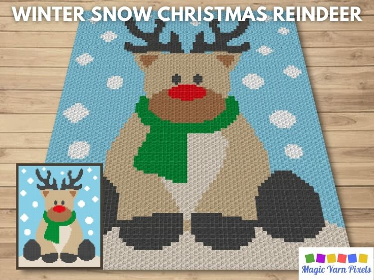 BLOG PREVIEW POSTER - Winter Snow Christmas Reindeer